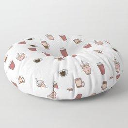 Coffee Doodle Pattern Floor Pillow