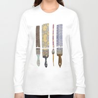 teacher Long Sleeve T-shirts featuring color your life by Bianca Green