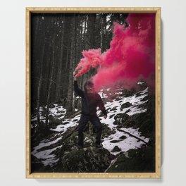 Black Monkey Pink Smoke Serving Tray