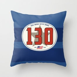 SRC Preparations Racecar Rebels: 130 Snake Bite Throw Pillow