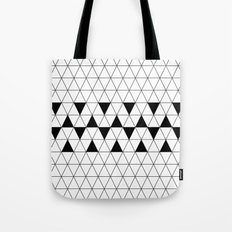 Black and white geometric design, triangle pattern. Home Decor. Worldwide Shipping Tote Bag