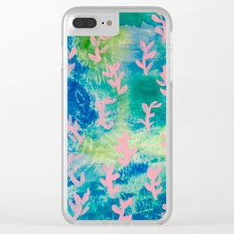 Neon Seaweeds Clear iPhone Case