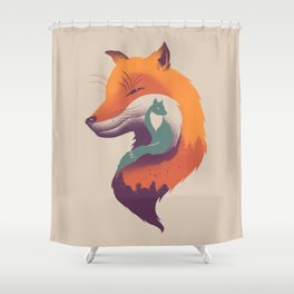 Foxy Breeze Shower Curtain