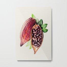 Cocoa Bean Metal Print