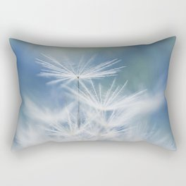dandelion white blue Rectangular Pillow