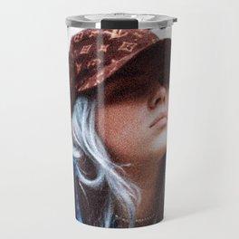 Billie Eilish with a LV hat Travel Mug