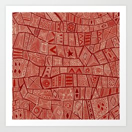 ESHE red mono Art Print