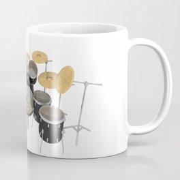 Black Drum Kit Coffee Mug