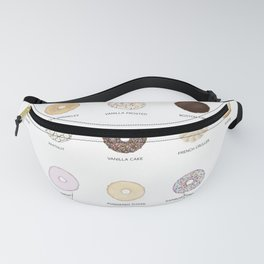 Donut types Fanny Pack