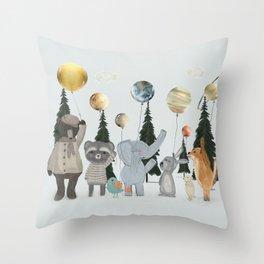 the solar parade Throw Pillow