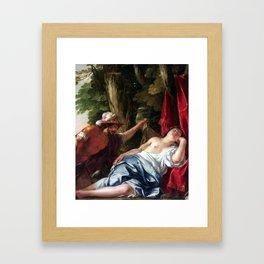 Jacques Blanchard Mars and the Vestal Virgin Framed Art Print