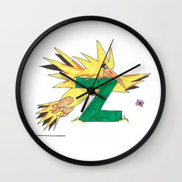 Z is for Zapdos Wall Clock