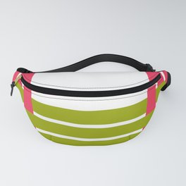 The intertwining pink and green ribbons Fanny Pack
