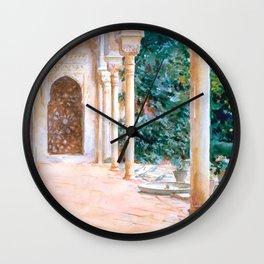 "John Singer Sargent ""Loggia, View at the Generalife"" Wall Clock"