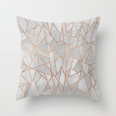 Shattered Concrete Throw Pillow