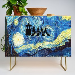 The Doctors Walking Of Starry Night Credenza