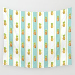 Vintage Glitter Pineapples Wall Tapestry