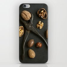Mixed nuts and vintage wrench. iPhone & iPod Skin