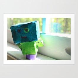 Robot Henry Art Print