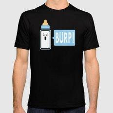 Burp (Blue) Mens Fitted Tee MEDIUM Black