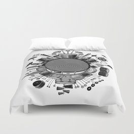 Drums & Percussion Duvet Cover
