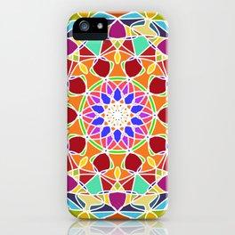 bright fractal mandala iPhone Case