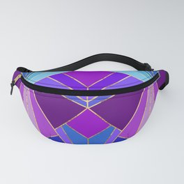 Peacock Art Deco - Large Scale Fanny Pack