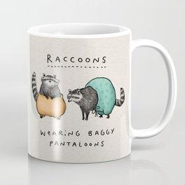 Raccoons Wearing Baggy Pantaloons Coffee Mug