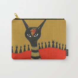 Morocco Gold Whimsical Cats Carry-All Pouch