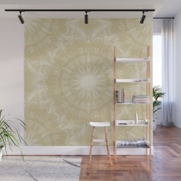 Peaceful kaleidoscope in beige Wall Mural