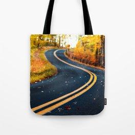 road in autumn Tote Bag