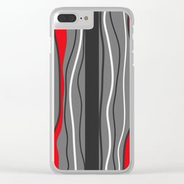 Abstract Graphic Design Lines Clear iPhone Case