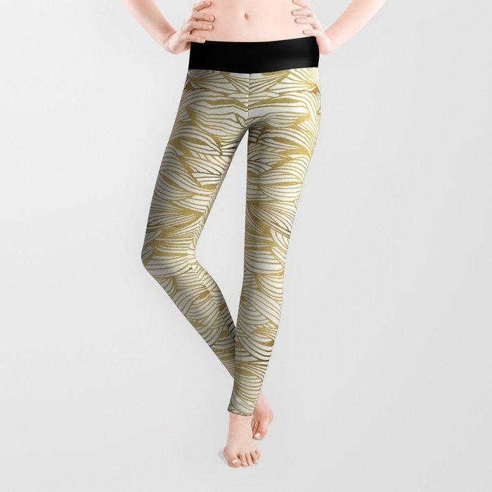 Golden Waves Leggings