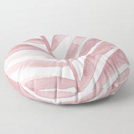 Pink Palm Leaf Crop Floor Pillow
