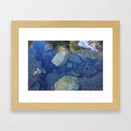 Rocks Under Water I Framed Art Print