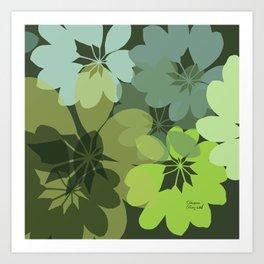 DG  Flowers Shape Art Print