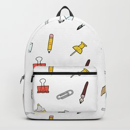Happy office stationary Backpack