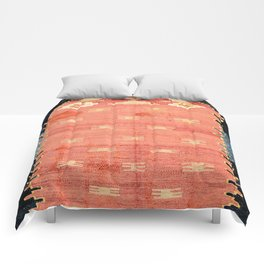 South West Anatolia  Antique Turkish Niche Kilim Print Comforters
