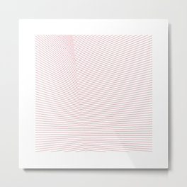 #66 Red space – Geometry Daily Metal Print