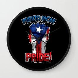 Puerto Rican Pride - Puerto Rico Raised Fist Wall Clock