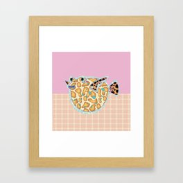 P is for Pufferfish Framed Art Print