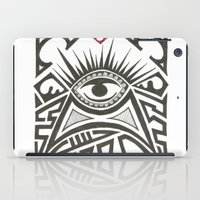 all seeing eye iPad Cases featuring All seeing eye by Andready
