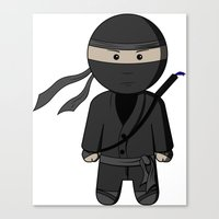 ninja Canvas Prints featuring Ninja by Shyam13