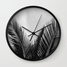 Coconut palm fronds Wall Clock