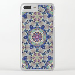 Chakra Flowers Clear iPhone Case