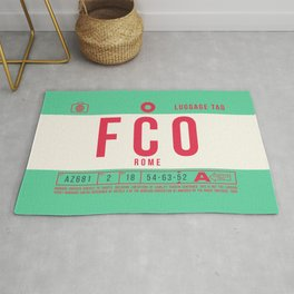 Baggage Tag B - FCO Rome Fiumicino Italy Rug