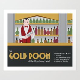 The Gold Room at the Overlook Hotel Art Print