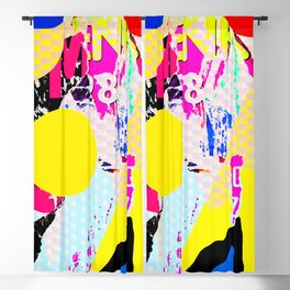 The River Flow - Abstract Pop Art Painting & Comic Blackout Curtain