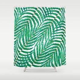 Green Tropical Ferns Shower Curtain
