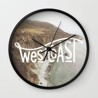 west coast Wall Clocks featuring West Coast by cabin supply co